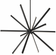 Kuzco CH14356-BK Sirius Contemporary Black LED 54  Ceiling Chandelier