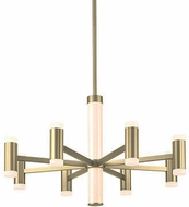 Kuzco CH16730-BB Brazen Contemporary Brushed Brass LED Lighting Chandelier