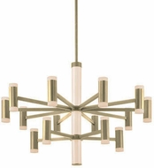 Kuzco CH16736-BB Brazen Contemporary Brushed Brass LED Chandelier Light