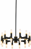 Kuzco CH19722-BK Draven Modern Black LED Mini Hanging Chandelier