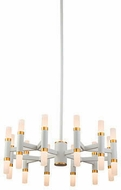Kuzco CH19722-WH Draven Contemporary White LED Mini Chandelier Light