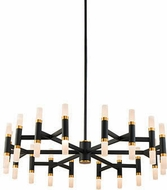 Kuzco CH19733-BK Draven Modern Black LED Chandelier Lighting