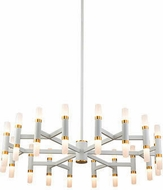 Kuzco CH19733-WH Draven Contemporary White LED Lighting Chandelier