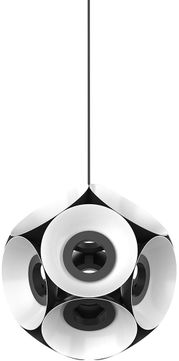 Kuzco CH51224-BKWH Magellan Modern Black / White LED Mini Chandelier Lamp