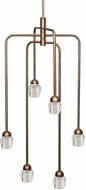 Kuzco CH52124-VB Honeycomb Contemporary Vintage Brass LED Mini Chandelier Light