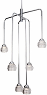 Kuzco CH54524-CH Nest Modern Chrome LED Mini Ceiling Chandelier