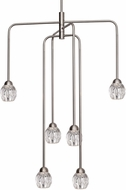 Kuzco CH56224-BN Tulip Contemporary Brushed Nickel LED Mini Hanging Chandelier