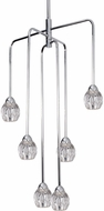 Kuzco CH56224-CH Tulip Modern Chrome LED Mini Chandelier Light