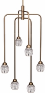 Kuzco CH56224-VB Tulip Contemporary Vintage Brass LED Mini Chandelier Lighting