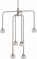 Kuzco CH56424-BN Malt Modern Brushed Nickel LED Mini Lighting Chandelier