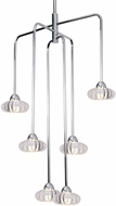 Kuzco CH56524-CH Lantern Modern Chrome LED Mini Chandelier Light