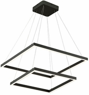 Kuzco CH85224-BK Piazza Modern Black LED 24  Hanging Light