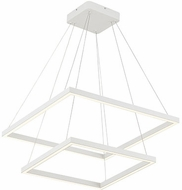 Kuzco CH85224-WH Piazza Contemporary White LED 24  Pendant Light Fixture