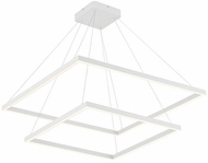 Kuzco CH85232-WH Piazza Contemporary White LED 32  Hanging Pendant Lighting