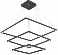 Kuzco CH85332-BK Piazza Modern Black LED Hanging Pendant Light