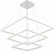 Kuzco CH85332-WH Piazza Contemporary White LED Pendant Hanging Light