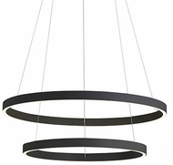 Kuzco CH86224-BK Cerchio Modern Black LED 24  Hanging Light Fixture