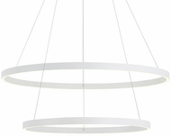 Kuzco CH86232-WH Cerchio Contemporary White LED 32  Ceiling Light Pendant