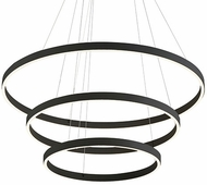 Kuzco CH86332-BK Cerchio Modern Black LED Ceiling Pendant Light