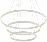 Kuzco CH86332-WH Cerchio Contemporary White LED Drop Ceiling Light Fixture