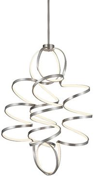 Kuzco CH93941-AS Synergy Modern Antique Silver LED 31.5 Pendant Lighting Fixture