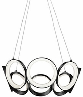 Kuzco CH94824-BK Oros Modern Black LED Mini Chandelier Light