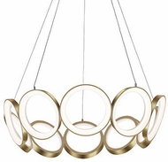 Kuzco CH94829-AN Oros Contemporary Antique Brass LED Chandelier Lighting