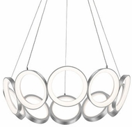 Kuzco CH94829-AS Oros Modern Antique Silver LED Lighting Chandelier