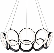 Kuzco CH94829-BK Oros Contemporary Black LED Chandelier Lamp
