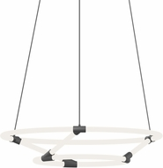 Kuzco CH95930-BK Chicago Loop Modern Black LED Chandelier Light