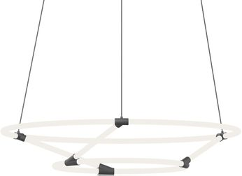 Kuzco CH95942-BK Chicago Loop Modern Black LED Chandelier Lighting