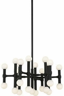 Kuzco CH96121-BL Rivoli Modern Black Plating LED Mini Chandelier Light