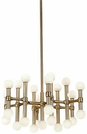 Kuzco CH96121-VB Rivoli Modern Vintage Brass LED Mini Hanging Chandelier
