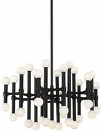 Kuzco CH96128-BL Rivoli Contemporary Black Plating LED Chandelier Light