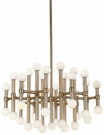Kuzco CH96128-VB Rivoli Contemporary Vintage Brass LED Lighting Chandelier