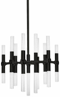 Kuzco CH9621-BL Turin Contemporary Black Plating LED Mini Chandelier Lamp