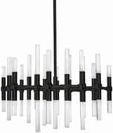 Kuzco CH9628-BL Turin Modern Black Plating LED Chandelier Light