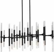 Kuzco CH9642-BL Turin Contemporary Black Plating LED Island Lighting