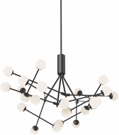 Kuzco CH97139-BK Moto Modern Black LED Lighting Chandelier