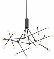 Kuzco CH97139-BK Moto Modern Black LED Chandelier Light
