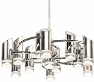 Kuzco CH9830-PN Berlin Contemporary Polished Nickel LED Chandelier Light