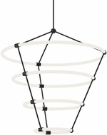 Kuzco CH99433-BK Santino Modern Black LED Chandelier Light