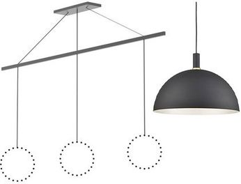 Kuzco CNL3AC-GH Marquee Contemporary Graphite Linear Pendant Conversion