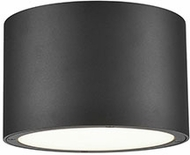 Kuzco EC19408-BK Lamar Contemporary Black LED Outdoor Flush Mount Lighting