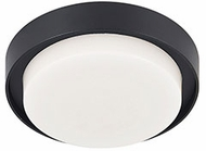 Kuzco EC44505-BK Bailey Contemporary Black LED Outdoor 6  Overhead Lighting Fixture