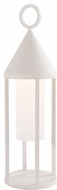 Kuzco EL44818-WH Delta Contemporary White LED Exterior Pier Mount