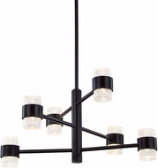 Kuzco EP48224-BK Copenhagen Contemporary Black LED Outdoor 24.5  Chandelier Lamp