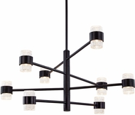 Kuzco EP48232-BK Copenhagen Modern Black LED Exterior 32  Chandelier Light