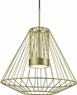 Kuzco EP68420-GD Arctic Modern Gold LED Exterior 20  Hanging Light