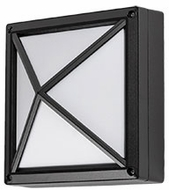 Kuzco EW1506-BK Contemporary Black LED Outdoor 5.625  Wall Sconce Light